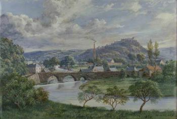 Stirling from Bridge of Allan, 1875, McNeil Macleay (1806-1883)