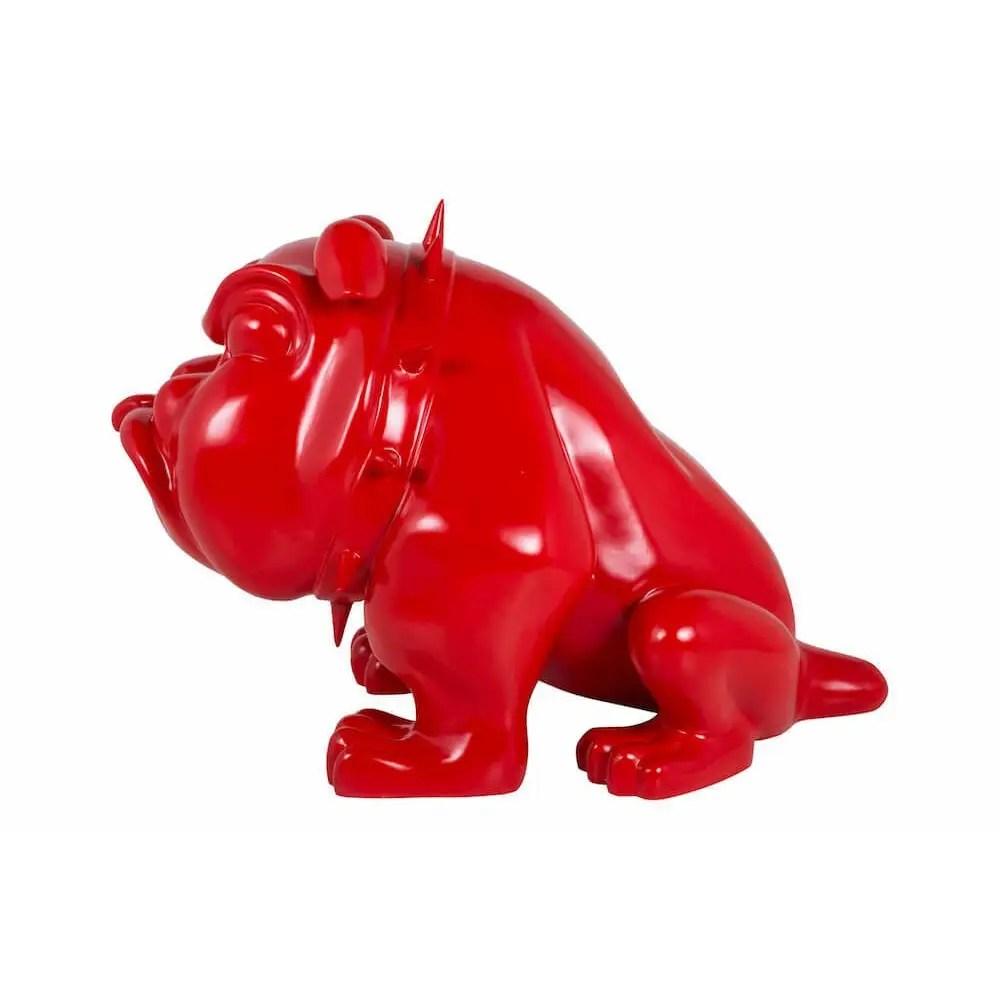 Life Size Bulldog Statue The Red Devil Dog Ornament