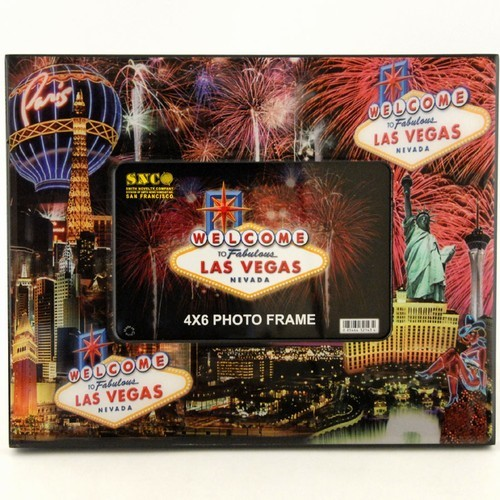 Smith Novelty Las Vegas Dice Collage Canvas Frame 4x6