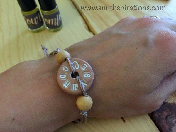 courage bracelet worn