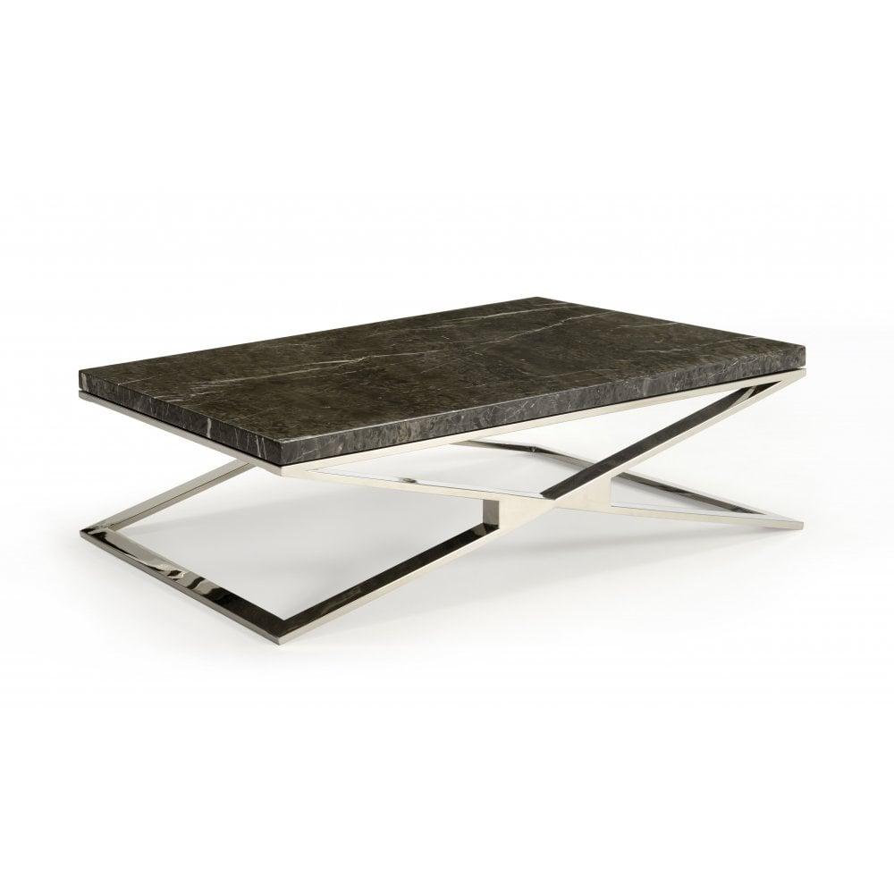 kesterport selina rectangular coffee table marble top polished base