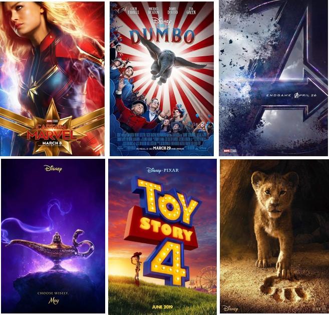 Nine New Disney Films for 2019