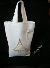 sac avec application en dentelle