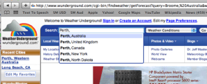 Using Weather Underground to find a forecast