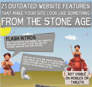 Screen shot - InfoGraphic 21 Outdated Website Features