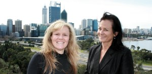 Shauna Kinney and Penny West in Kings Park Perth Australia