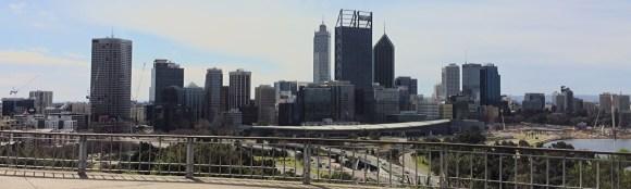 Perth city skyline panorama viewed from Kings Park