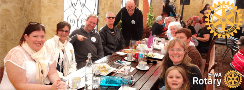Online EWA Rotary Club meeting in person