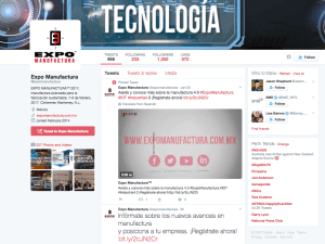 Manufacturing expo in Mexico using Twitter to drive niche traffic