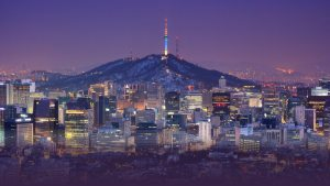 Seoul South Korea skyline at night
