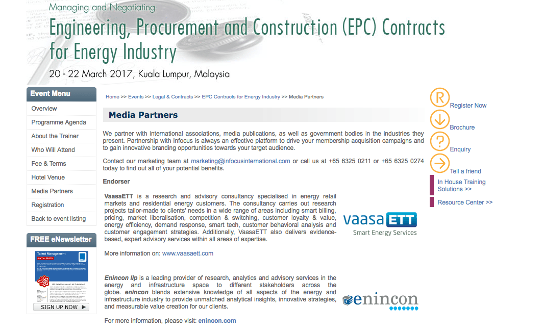 Media partners for the March 2017 EPC for Energy Industry