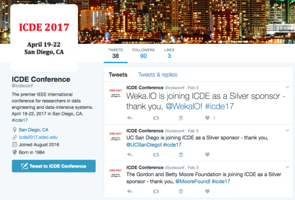 2017 ICDE Conference thanks partners in Tweets