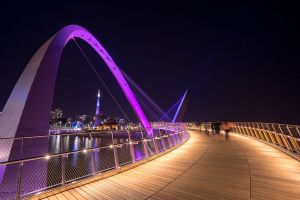 Elizabeth Quay at night, Perth Australia by Paul Pichugin