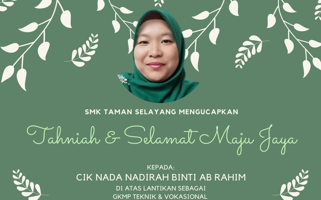 Tahniah Cikgu Nada!!