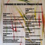 I Jornadas de Direito da Comarca de Faro