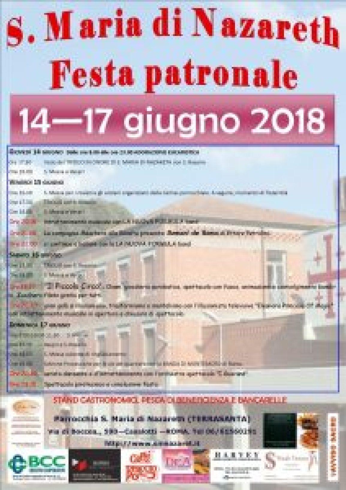 Festa Patronale 14-17 giugno 2018