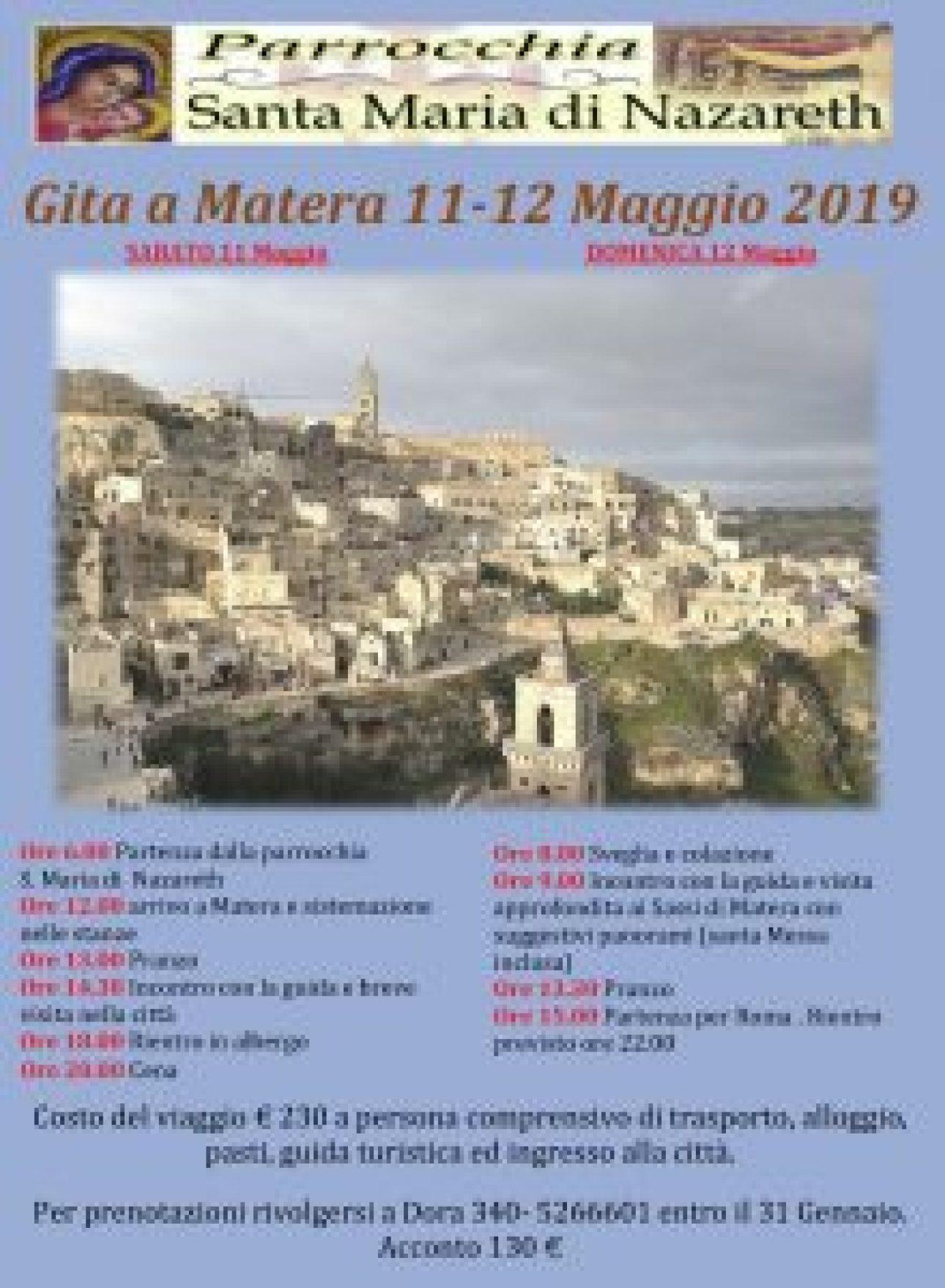 Gita Matera - 11-12 Maggio 2019