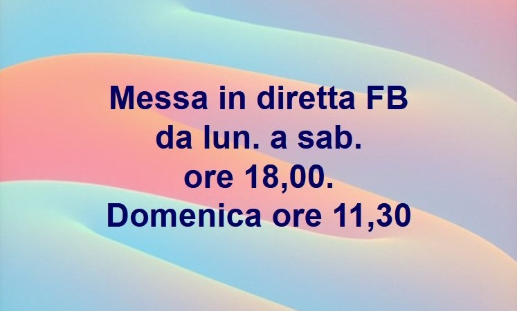 Messa in diretta Facebook