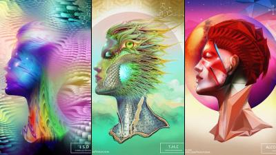 artista cria 20 ilustracoes sob efeito de 20 drogas diferente Artista cria ilustrações sob efeito de drogas e o resultado é fantástico