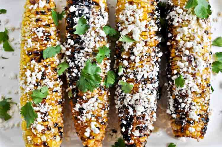 Grilled corn with bacon butter