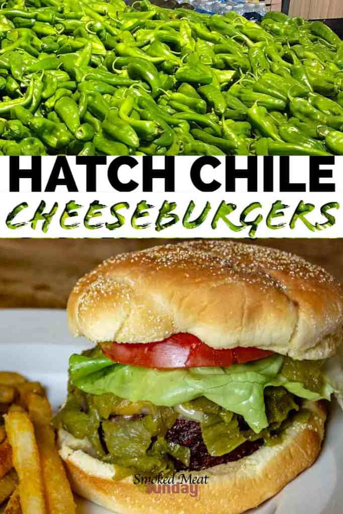 Have you ever smoked hatch chiles? it's such an easy process, and the chiles go good on just about anything! I loved how easy this recipe was to make. If you're looking for hatch chile recipe ideas, this is a great place to start! Smoked Cheeseburger - Traeger Recipes - Green Chile - Wagyu Beef - Hamburger - Burger