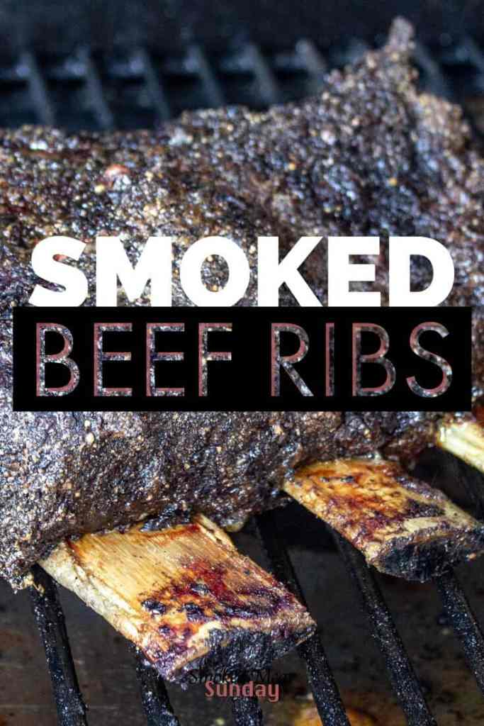 Good tailgate food requires two things: Is it easy to make and can you drink a beer or play a game while eating? These Smoked Beef Chuck Ribs pass the test. Easy to make. Simple bbq beef rub. #pelletgrill #recipe #traeger