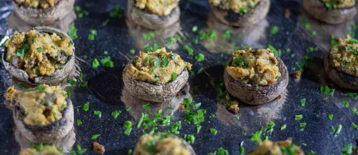 smoked low carb stuffed mushrooms recipe