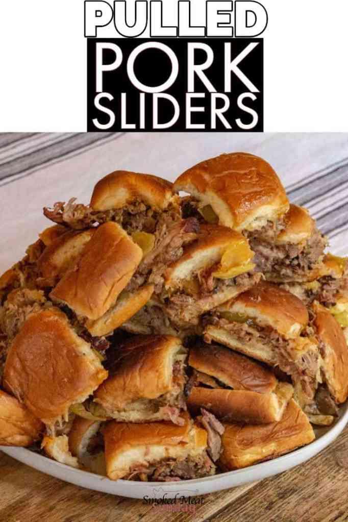 Pulled Pork Sliders on Hawaiian Rolls - #tailgateparty #traeger #bbqrecipes #pulledpork