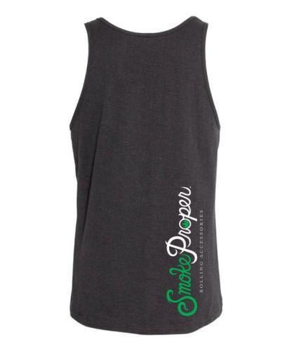 Black tank (back) white/green logo | Smoke Proper Rolling Accessories