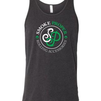 Black tank white/green logo | Smoke Proper Rolling Accessories
