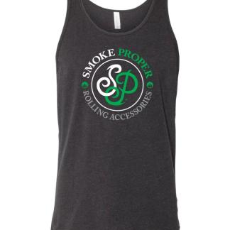 Black tank white/green logo | Smoke Proper Rolling Accessories