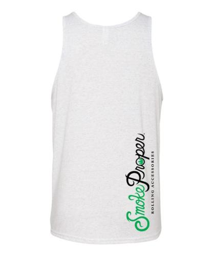 White tank (back) white/black logo | Smoke Proper Rolling Accessories