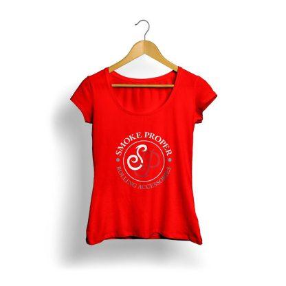 Girls Red T-shirt white/red logo | Smoke Proper Rolling Accessories