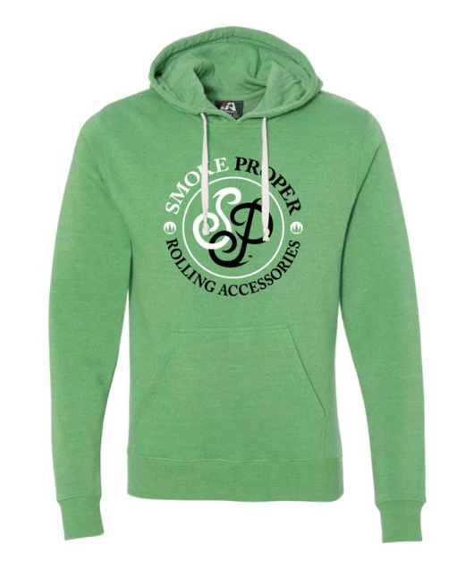 Green Hoodie Black text | Smoke Proper Rolling Accessories