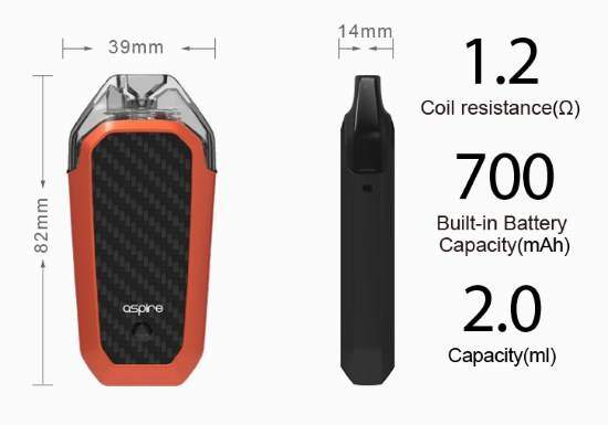 Features of the Aspire AVP Pod System