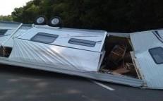 camper semi wreck