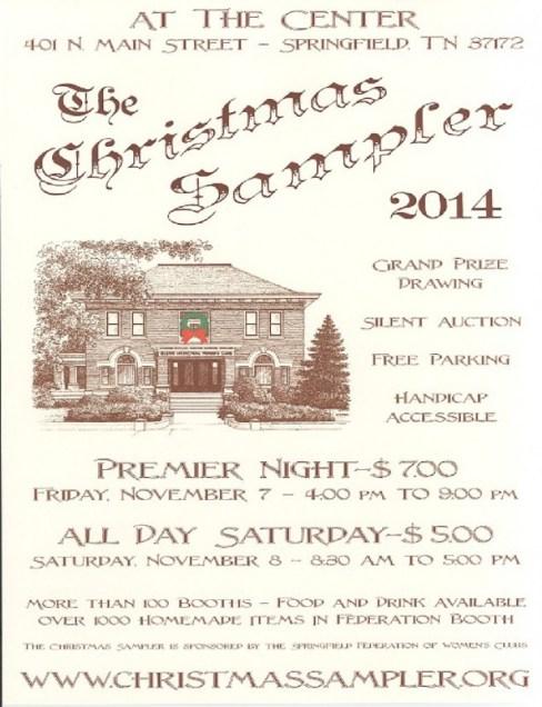 Christmas Sampler 2014 flyer