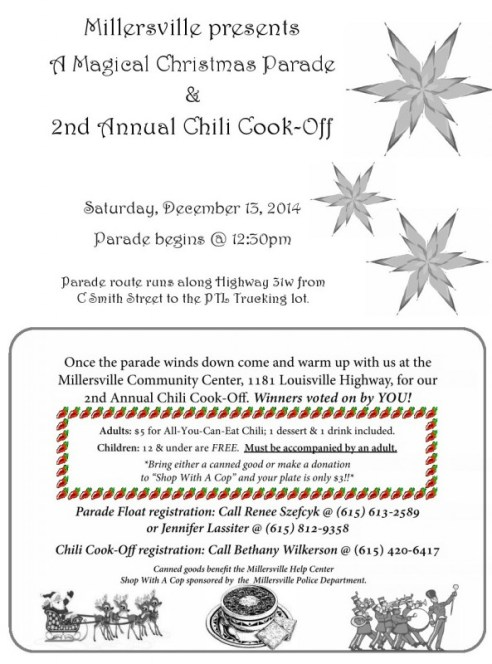 Millersville Christmas parade and chili 2014