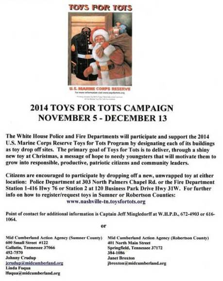 toys for tots white house 2014