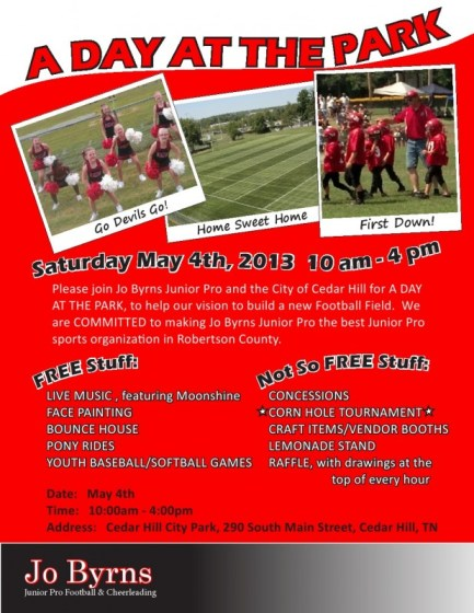 Day at the park flyer