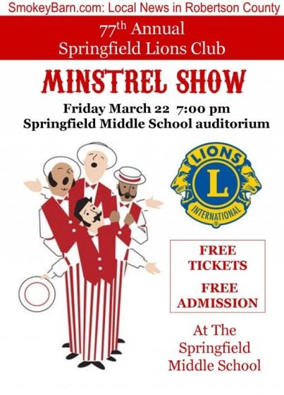 minstrel show 2013