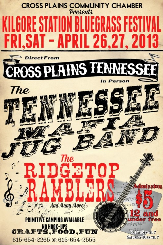 Kilgore station bluegrass april 26 flyer