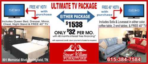 Stewart Williams TV package ad 511