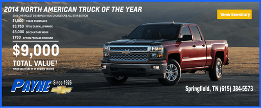 payne 2014 truck of year 511