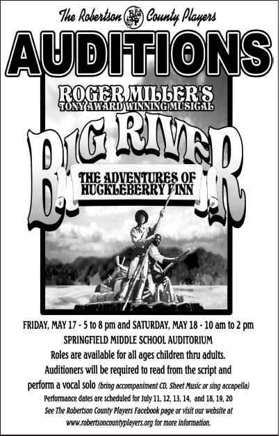 Big River Audition Artwork