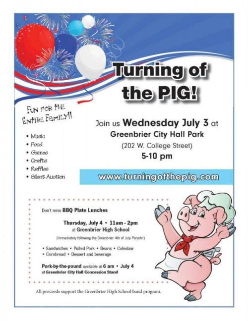 turning of the pig