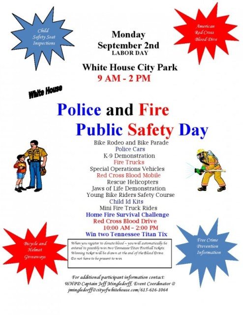safety day flyer labor day