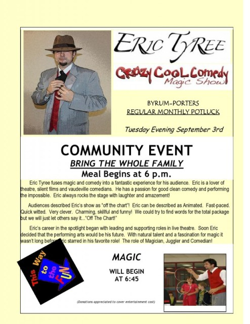 Eric Tyree Flyer
