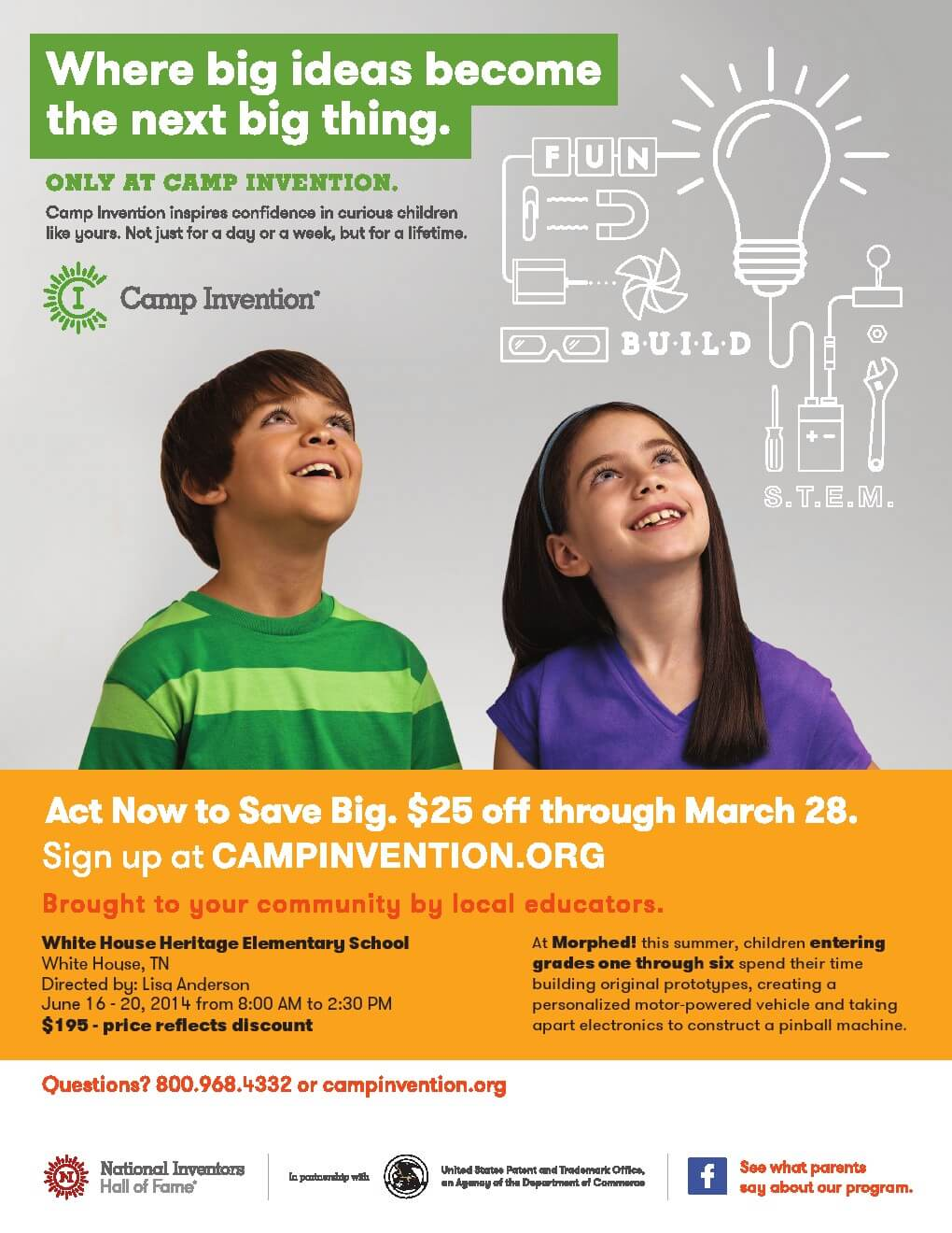 Camp Invention This Summer Sign up Early and Save   Smokey ...