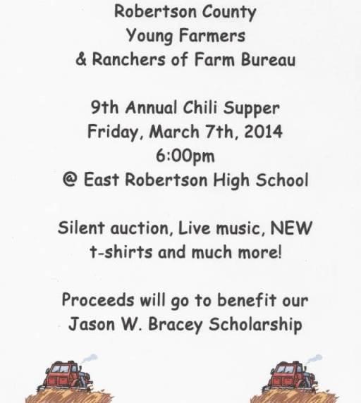 farmers chili supper flyer